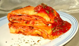 Stromboli. Is a type of turnover filled with various cheeses Stock Image