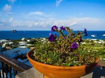 Stromboli, Italy. View from the volcanic island of Stromboli, Aeolian Islands, Italy Royalty Free Stock Photo