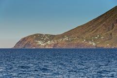 Stromboli volcanic island in Sicily, Italy Stock Image