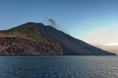 Stromboli volcanic island in Sicily, Italy Royalty Free Stock Photos