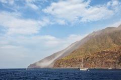 Stromboli volcano in Italy Royalty Free Stock Photo