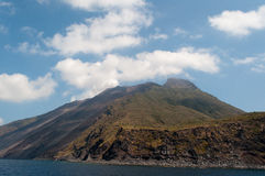 Stromboli volcano Royalty Free Stock Image