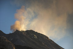 Stromboli vulkan Italien Fotografering för Bildbyråer