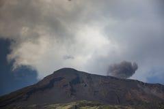 Stromboli vulkan Italien Royaltyfri Fotografi