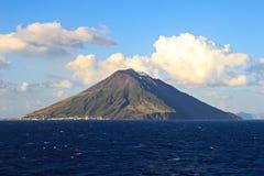 Stromboli Wyspa Sicily Obraz Royalty Free
