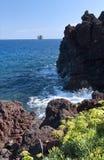 Strombolicchio small island Stock Photos