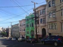 Stromdrähte in San Francisco Lizenzfreies Stockbild