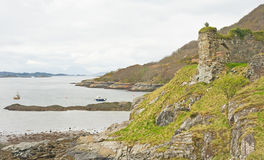 Strome Castle ruin. Stock Photography