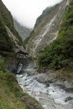 Strome, niewygładzone góry przy Taroko parkiem narodowym, Tajwan fotografia royalty free