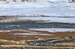 Stromen van Smeltwater Royalty-vrije Stock Fotografie