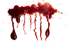 Stromend rood bloed royalty-vrije stock foto