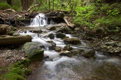 Stromend water royalty-vrije stock afbeelding