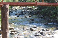 Stromend water en stenen Stock Foto