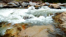 Stromend water, Obkhan-cascade in Chiangmai Thailand stock footage
