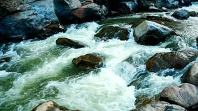 Stromend water, Obkhan-cascade in Chiangmai Thailand stock video