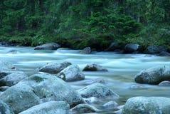 Stromend water van bergstroom Royalty-vrije Stock Afbeeldingen