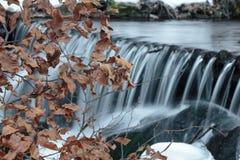 Stromend water van Karpatische bergstroom Royalty-vrije Stock Afbeelding