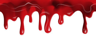Stromende Bloed naadloze grens stock illustratie