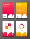 Stromende geplaatste stroopbrochures Royalty-vrije Stock Afbeeldingen