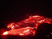 Stromende Lava I Royalty-vrije Stock Afbeeldingen