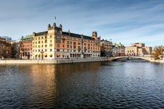 Stromgatan Embankment and Royal Opera in Stockholm Royalty Free Stock Image