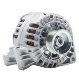 Stromgenerator oder Generator lokalisiert auf weißem Hintergrund Automotormaschinenteile stockbilder