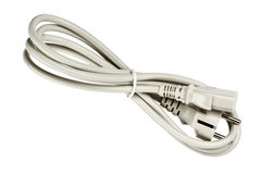 Stromkabel mit Stecker und Sockel Lizenzfreies Stockbild