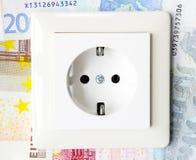 Stromkosten, Energiepreise lizenzfreie stockfotografie