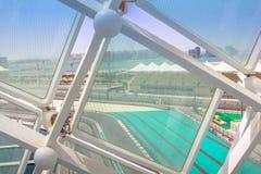 Stromkreis Abu Dhabi der Formel-1 Lizenzfreies Stockbild