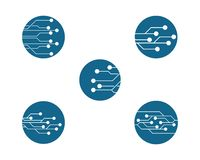 Stromkreis Logo Template vektor abbildung