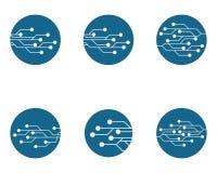 Stromkreis Logo Template lizenzfreie abbildung