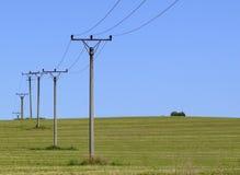 Stromleitung Stockbild