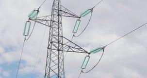 Stromleitung Hochspannungs-timelapse stock video footage