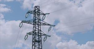 Stromleitung Hochspannungs-timelapse stock video