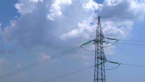 Stromleitung Hochspannungs-timelapse stock footage