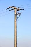 Stromleitung Posten Stockbild