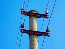 Stromleitung Spalte Lizenzfreies Stockfoto