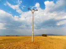 Stromleitung Spalte Lizenzfreie Stockfotografie