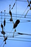Stromleitungen 3 Stockbild