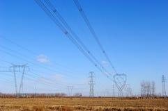 Stromleitungen Stockfotografie