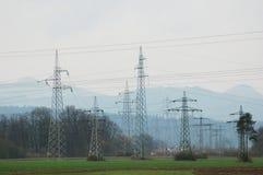 Stromleitungen Stockfotos
