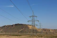 Stromleitungen, Kabel Lizenzfreies Stockfoto