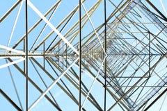 Strommast in der Perspektive Lizenzfreies Stockfoto