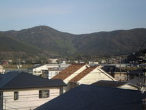 strommast und huser japan lizenzfreie stockfotografie - Japanische Huser