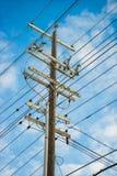 Strommastarbeitsbelastung lizenzfreie stockbilder
