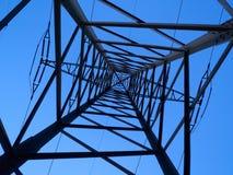 Strommaste an der Dämmerung Stockfoto