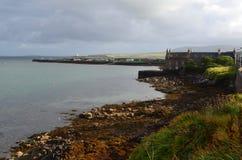 Stromness, de second-most dichtbevolkte stad in Vasteland Orkney, Schotland royalty-vrije stock fotografie