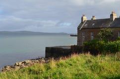 Stromness, de second-most dichtbevolkte stad in Vasteland Orkney, Schotland royalty-vrije stock foto's