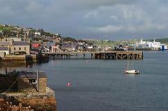 Stromness, de second-most dichtbevolkte stad in Vasteland Orkney, Schotland stock fotografie