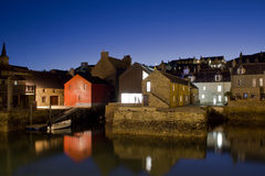 Stromness harbour at night Stock Photos